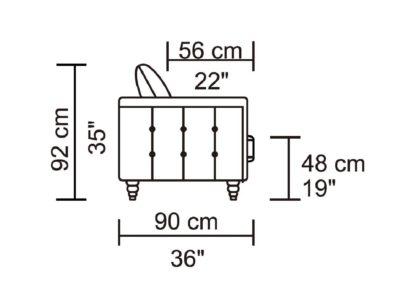 HD1811 -Jesse- Taupe-K25.Fabric .Husky Designer Furniture.Dimentions