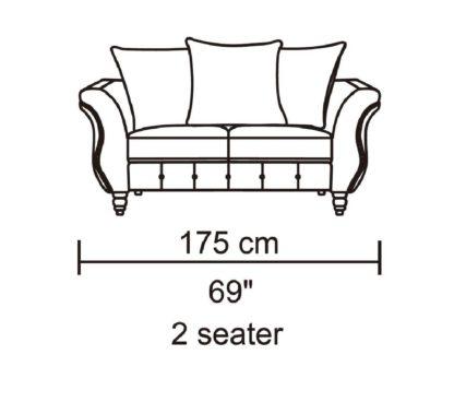 HD1811 -Jesse- Taupe-K25.Fabric .Husky Designer Furniture.Loveseat