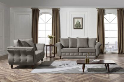 HD1811 -Jesse- Taupe-K25.Fabric .Husky Designer Furniture.Sofa and loveseat