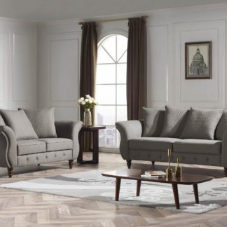 Jesse Designer 3-PC Sofa Set – Fabric Code #  K25 Taupe