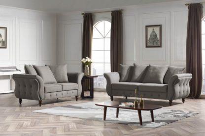 HD1811 -Jesse- Taupe-K25.Fabric .Husky Designer Furniture.Sofa and loveseat.2