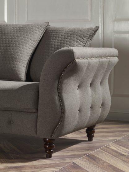 HD1811 -Jesse- Taupe-K25.Fabric .Husky Designer Furniture.Sofa and loveseat.Side