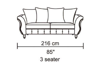 HD1811 -Jesse- Taupe-K25.Fabric .Husky Designer Furniture.Sofa