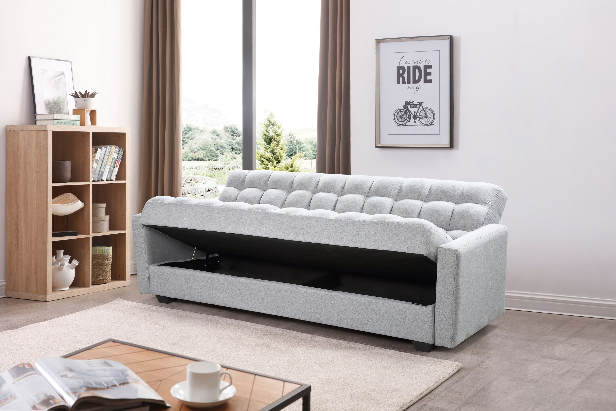 Astounding Sara Sofa Bed 3 In 1 Sofa Bed Storage Grey Theyellowbook Wood Chair Design Ideas Theyellowbookinfo
