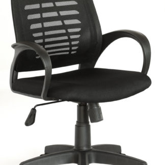 HC8353C Husky Furniture Mid Back Office Chair Medium Black Mesh