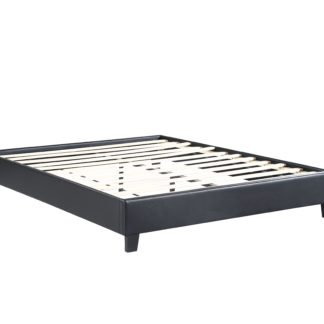 Paragon – Upholstered Platform Bed, Black – Double (FULL)