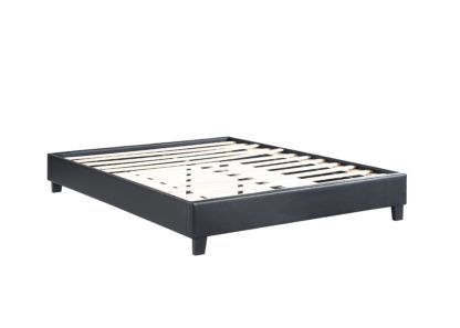 HB805-Paragon Platform Bed - Double - Queen - Husky-Furniture- Black-1