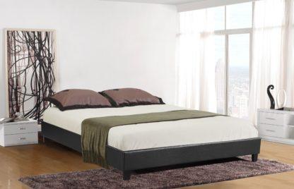 HB805-Paragon Platform Bed - Double - Queen - Husky-Furniture- Black