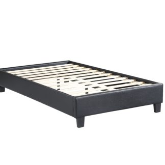 HB805-Paragon Platform Bed - Twin - Husky-Furniture- Black-1