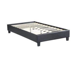 Paragon - Upholstered Platform Bed, Black – Single (TWIN)