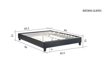 HB805-Paragon - Queen Dimensions Platform Bed - Husky-Furniture- Black