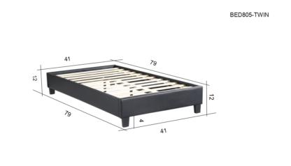 HB805-Paragon - Twin Dimensions Platform Bed - Husky-Furniture- Black