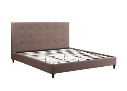 HB806-Hazel Platform Bed - King-Husky-Furniture- Brown Fabric-1