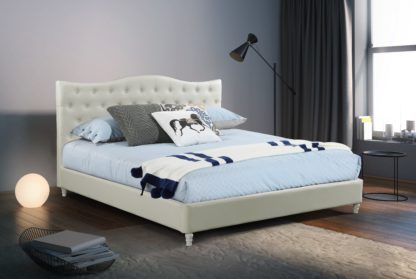 HB828-Lily Platform Bed - King - Husky-Furniture- White