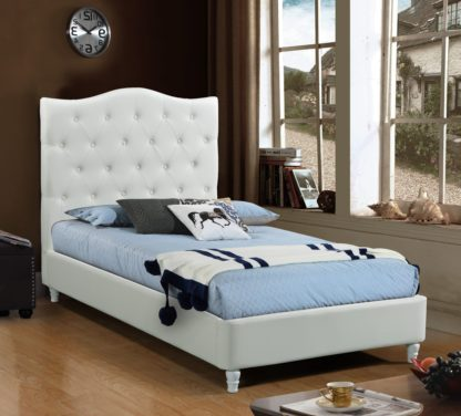 HB828-Lily Platform Bed - Twin - Husky-Furniture- White