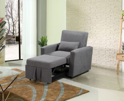 HS1009- Charcoal - Husky Furniture Transformer - convertible Sofa Bed - Chair