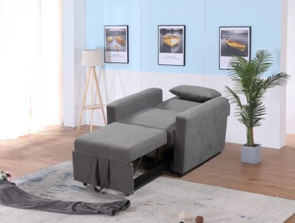 HS1009- Charcoal - Husky Furniture Transformer - convertible Sofa Bed - Chair 2