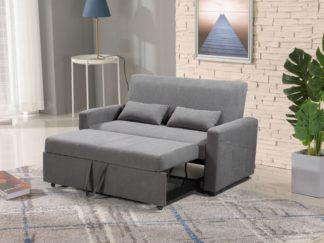 HS1009- Charcoal - Husky Furniture Transformer - convertible Sofa Bed - Loveseat