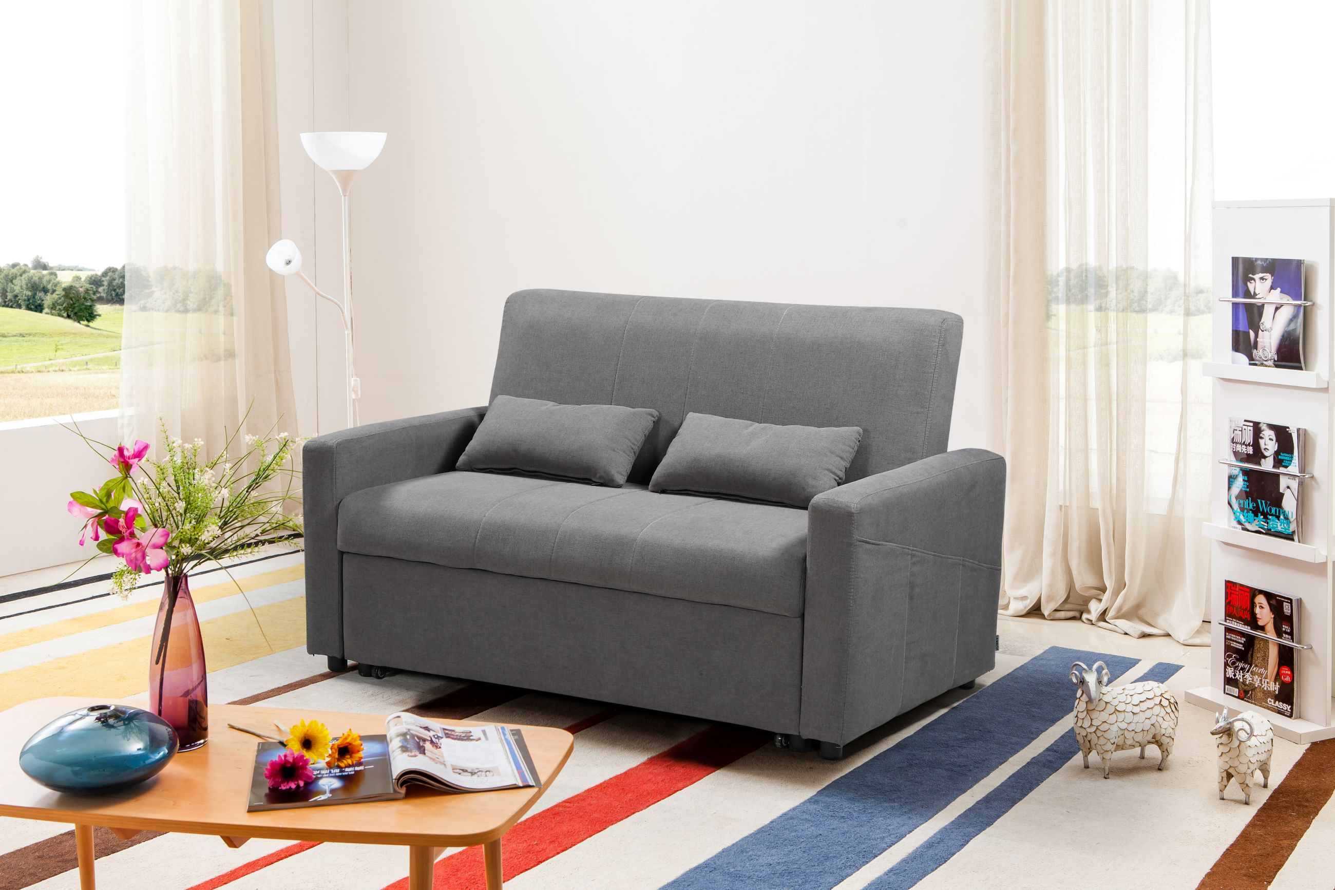 Admirable Transformer Convertible Loveseat Bed Grey Caraccident5 Cool Chair Designs And Ideas Caraccident5Info