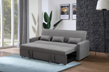 HS1009- Charcoal - Husky Furniture Transformer - convertible Sofa Bed - Sofa 1