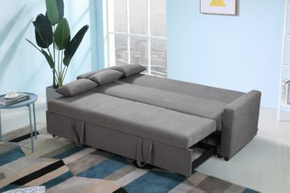 HS1009- Charcoal - Husky Furniture Transformer - convertible Sofa Bed - Sofa 2