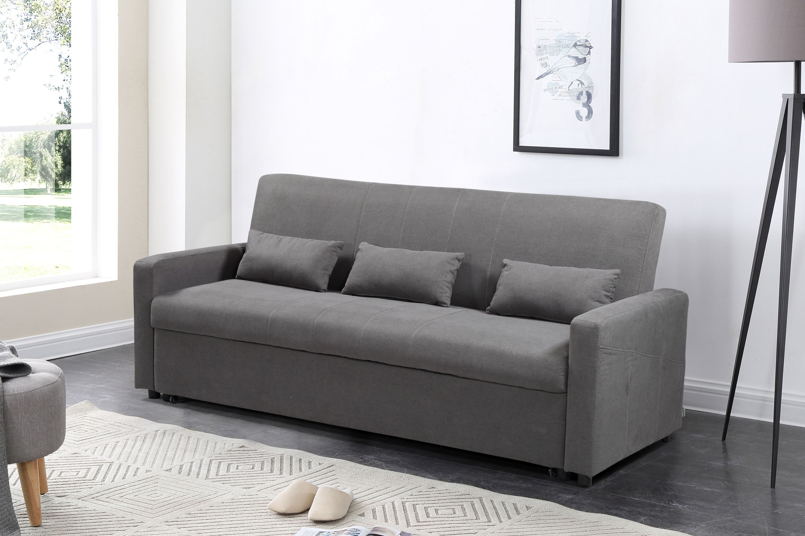 Marvelous Transformer Convertible Sofa Bed Grey Machost Co Dining Chair Design Ideas Machostcouk