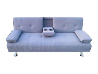 HS4122-Husky-Furniture- Spencer Sofa Bed - Klick Klack Charcoal