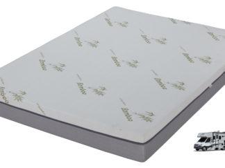 RV QUEEN Husky 8 inch gel memory foam Mattress with zipper cover
