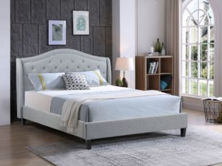 Double-Twilight Bed-013-Husky Furniture -Double Platform bed -Grey