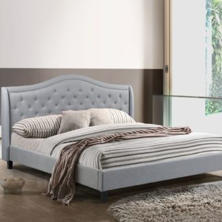 King-Twilight Bed - 013- Husky Furniture Platform Bed King size- Grey