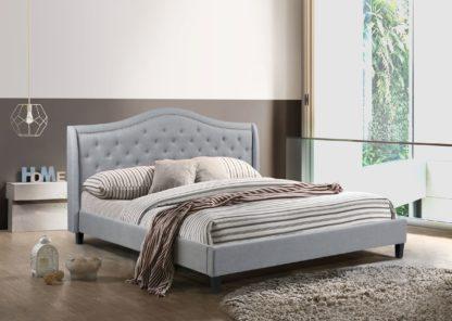 King-Twilight Bed - 013- Husky Furniture Platform Bed King size- Grey