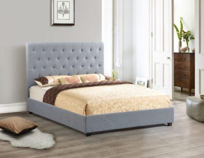 Logan Storage Bed Double Size -1974 - Husky Furniture - Full Grey