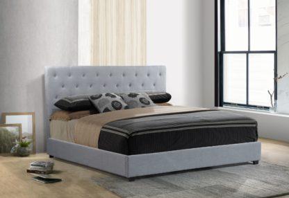 Logan Storage Bed King size -1974 - by Husky Furniture - King - Grey