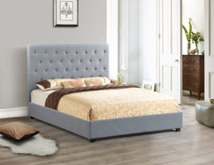 Logan Storage Bed Queen Size -1974 - Husky Furniture - King Grey