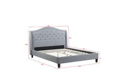 Queen-Twilight Bed-013-Husky Platform Bed by Husky Furniture-Queen- Grey