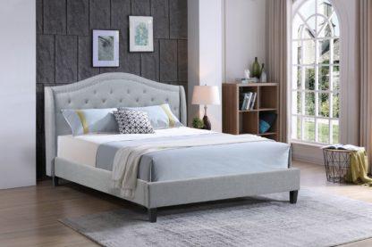 Queen-Twilight Bed-013-Husky Platform bed Queen and-Grey